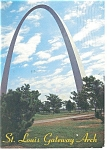 Click here to enlarge image and see more about item cs0216: Gateway Arch, St Louis, MO Postcard