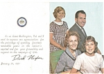 Vice President Nixon Farewell Photo Card 1960