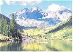 Majestic Mountains and Lake Scene Postcard cs0255
