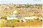Click here to enlarge image and see more about item cs0256: Jerusalem Isreal The Old City Postcard cs0256