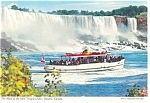 Click here to enlarge image and see more about item cs0257: Maid of the Mist at Niagara Falls Postcard cs0257