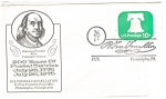 Click here to enlarge image and see more about item cs0280: B Free Franklin Post Office Bicentennial Canceled Envel