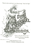 Click here to enlarge image and see more about item cs0281: Our National Songs White Sewing Machine Co cs0281
