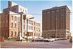 Click here to enlarge image and see more about item cs0285: Meridian MS Court House and Memorial Postcard cs0285 Old Cars