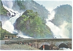 Norway, Latefoss Waterfall Postcard