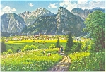 Oberammergau,Germany, View of the City Postcard