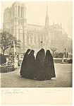 Chartres France Cathedral and Contemplative Nuns Postcard cs0307