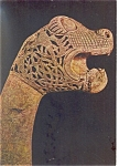 Oseberg, Norway, Carved Animal Head Post Postcard
