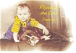 Click here to enlarge image and see more about item cs0341: Rejoice in the Lord, Psalm 33:1 Postcard cs0341