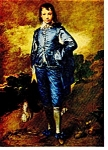 The Blue Boy Gainsborough Postcard cs0381