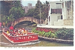 Click here to enlarge image and see more about item cs0383: San Antonio TX San Antonio River Postcard cs0383