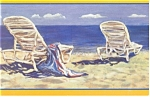 Beach Scene, Artwork Postcard