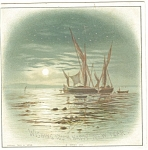 Click here to enlarge image and see more about item cs0404: Vintage New Years Card Ship Scene