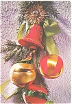 Christmas Postcard Snowman, Christmas Spray with Bells
