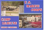 Click here to enlarge image and see more about item cs0421: Camp Lejeune US Marine Corps Postcard