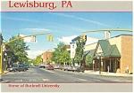 Lewisburg, PA  View market St, Vintage Cars Postcard