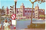 Barcelona Spain Bull Fighting Arena Postcard cs0469