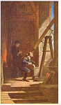 Click here to enlarge image and see more about item cs0485: Der Sterngucker by Carl Spitzweg Postcard