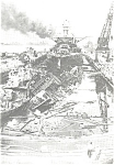 Click here to enlarge image and see more about item cs0526: Battleship Pennsylvania After Pearl Harbor Attack Pcard