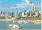 Click here to enlarge image and see more about item cs0537: St Louis MO  Gateway Arch Postcard cs0537