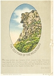 Old Man Of The Mountain, NH Postcard 1934