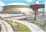 Click here to enlarge image and see more about item cs0558: New Orleans LA The Superdome Postcard cs0558