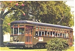 Click here to enlarge image and see more about item cs0560: New Orleans LA Street Car Trolley Postcard cs0560