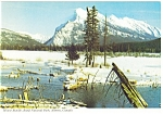 Click here to enlarge image and see more about item cs0569: Mt Rundle, Banff, Alberta, Canada Postcard