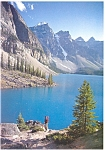 Click here to enlarge image and see more about item cs0571: Moraine Lake Banff  Alberta Canada Postcard cs0571