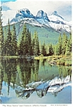 Click here to enlarge image and see more about item cs0572: Three Sisters Canmore Alberta Canada Postcard cs0572