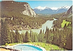 Bow Valley, Banff Alberta, Canada Postcard