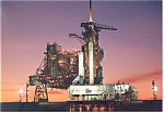 Shuttle Columbia on Launch Pad 39B Postcard cs0575
