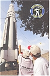 Saturn 1 Rocket, Huntsville, AL Postcard cs0585
