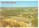 Click here to enlarge image and see more about item cs0594: Aerial of Great Falls, MT Postcard