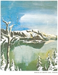 Click here to enlarge image and see more about item cs0605: Winter at Crater Lake, OR Postcard