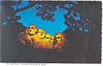 Mt Rushmore at Night SD Postcard cs0610