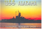 USS Alabama Battleship Memorial Park AL Postcard cs0616