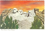 Mt Rushmore National Monument SD Postcard cs0620