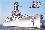 USS Alabama Battleship Memorial Park AL Postcard cs0628