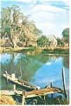 Click here to enlarge image and see more about item cs0644: Along the Bayou, Louisiana Postcard 1989
