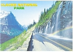 Click here to enlarge image and see more about item cs0658: Weeping Wall Glacier National Park MT Postcard cs0658