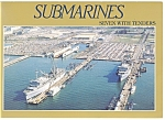 Naval Base Submarines, Norfolk, Virginia Postcard