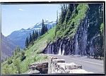 Click here to enlarge image and see more about item cs0664: Weeping Wall,Glacier National Park Postcard