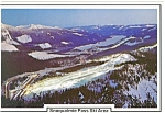 Snoqualmine Pass Ski Area WA Postcard cs0668 1987