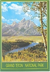 Click here to enlarge image and see more about item cs0671: Snake River and Teton Range WY  Postcard cs0671 1987