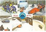 Bobrun Lake Placid, NY Postcard 1988