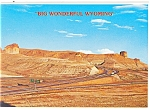 Click here to enlarge image and see more about item cs0703: Teapot and Castle Rock on I-80, Wyoming Postcard