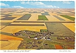 Click here to enlarge image and see more about item cs0706: Strip Farming in Saskatchewan Canada Postcard cs0706