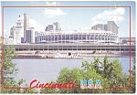 Cincinnati Ohio Riverfront Stadium  Postcard cs0708