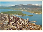 Click here to enlarge image and see more about item cs0725: Aerial View, Vancouver BC,Canada Postcard